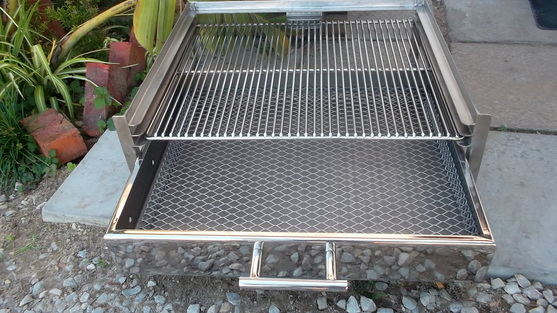 Stainless steel built in braais