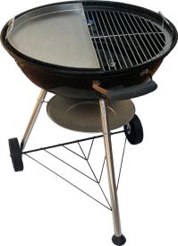 Stainless steel kettle braai plate